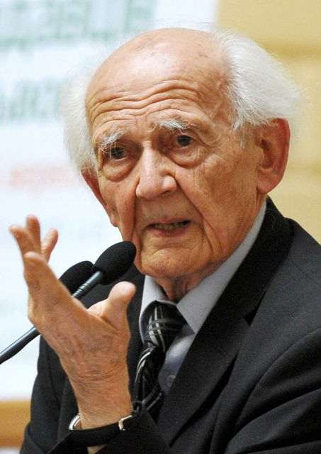 The famous sociologist Zygmunt Bauman participating in a debate