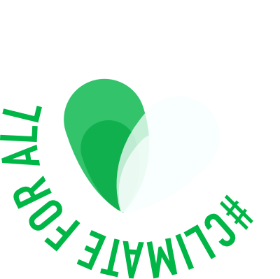 All for climate round logo white