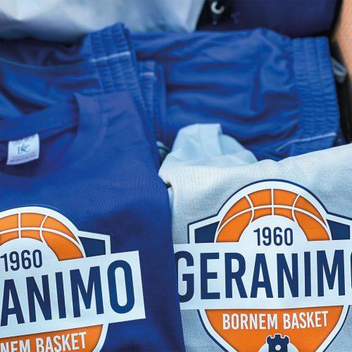 Gepersonaliseerde basketbal tenue's Geranimo Bornem