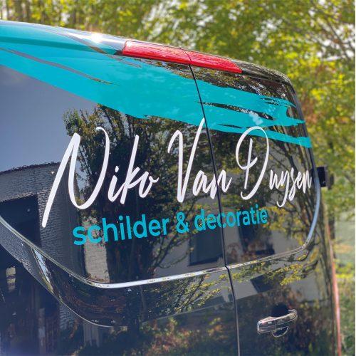 Belettering wagen Niko Van Duysen Schilderwerken