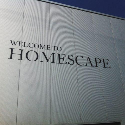 Belettering gevel Homescape