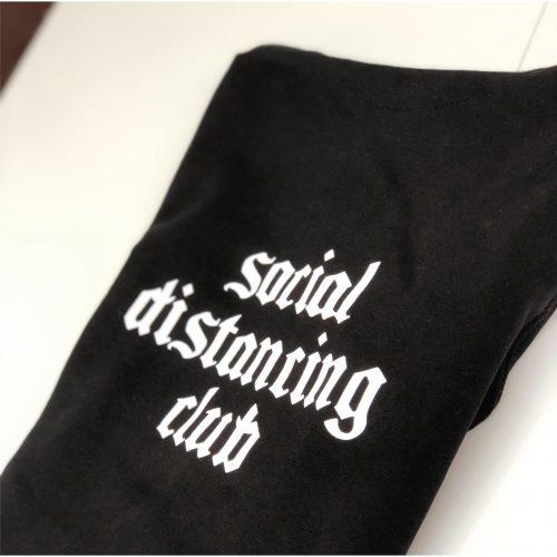 Gepersonaliseerde truien T-Press Bornem Social Distancing lijn