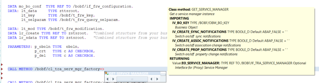ABAP auto method selection