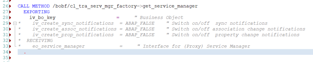 ABAP code completion full pattern details