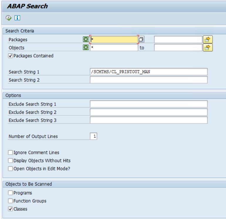 search for SAP PPF BO server class