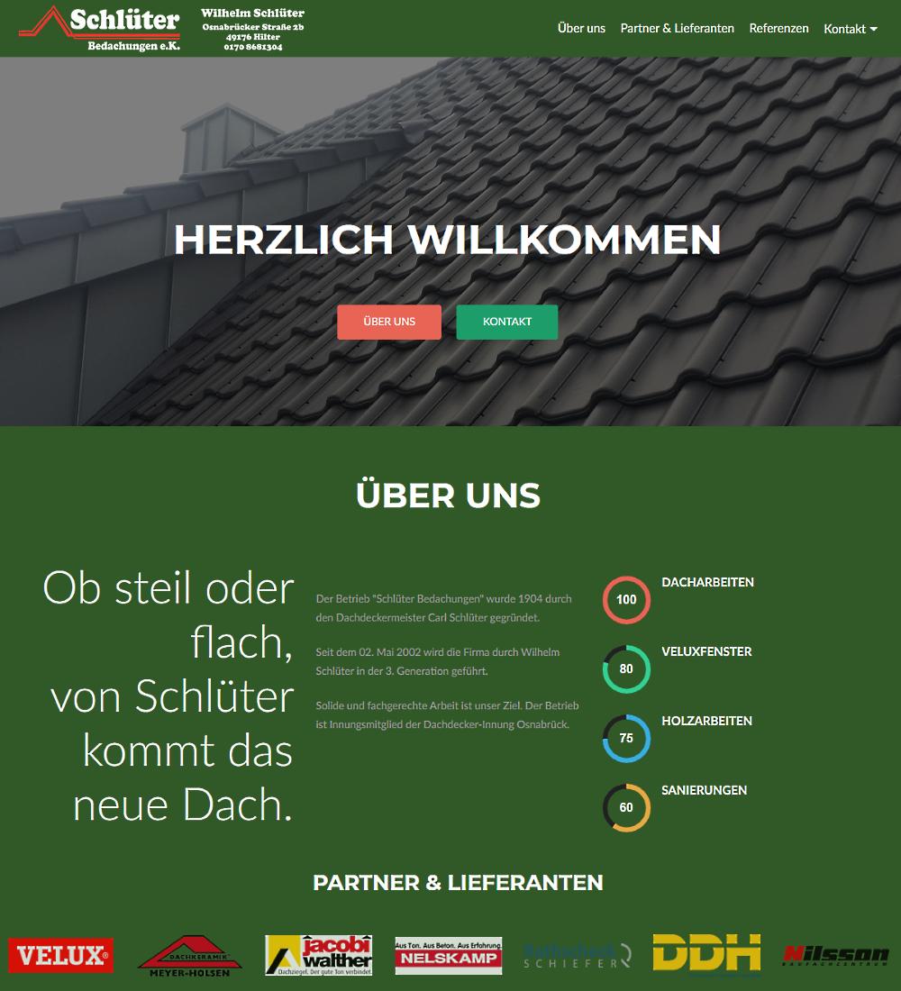Screenshot Schlüter Bedachungen