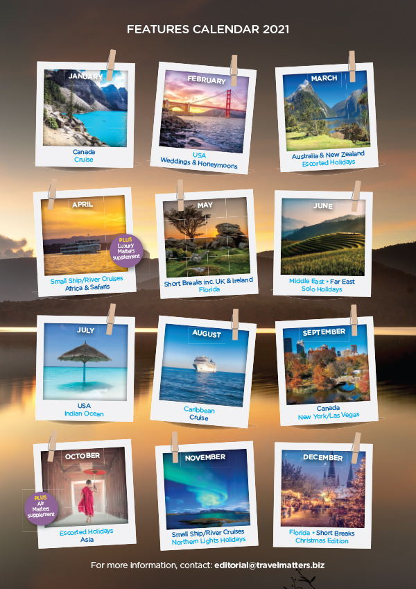 Travel Matters Forthcoming Issues 2021 Calendar