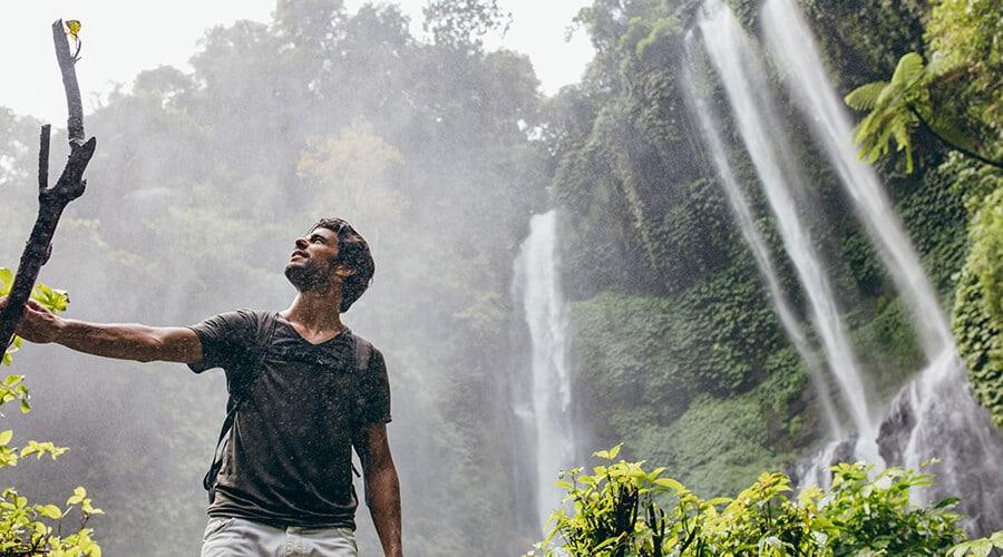 Qatar man in jungle setting