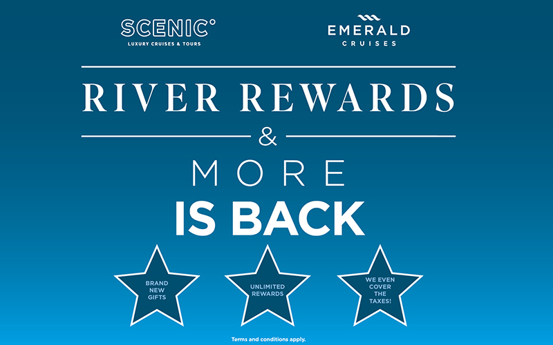 Earn River Rewards with Scenic & Emerald Cruises