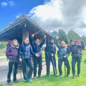 Six women celebrate starting their wellbeing trek together