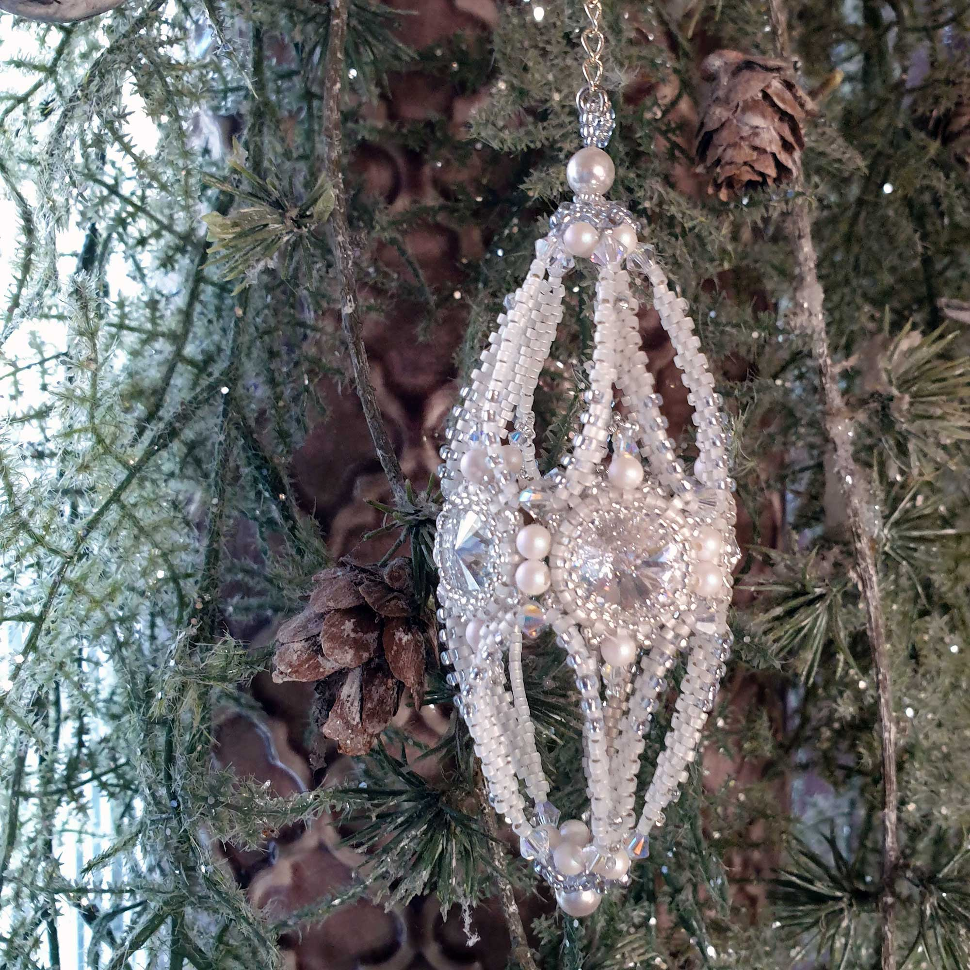 Christmas Cone Large - Rijgpatroon