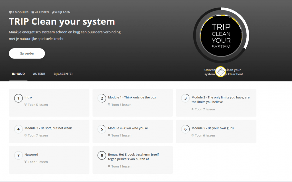 TRIP Clean your system modules