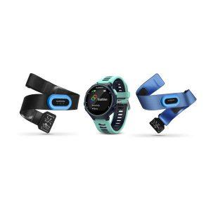 Forerunner® 735XT, Midnattsblå/Frostigt blå Tri-Bundle