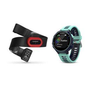 Forerunner® 735XT, Midnattsblå/Frostigt blå, Bundle Löpning