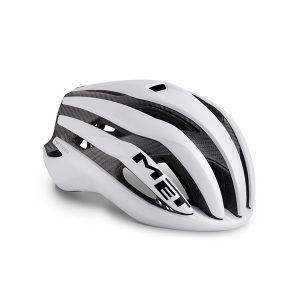 MET Helmet Road Trenta 3K Carbon M (56-58 cm) White Raw Carbon/Matt