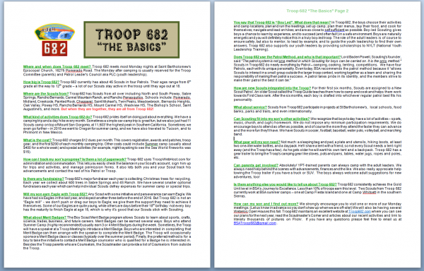 Troop 682 - The Basics - document picture