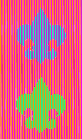 Fleur de lis illusion