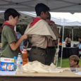 Some of our scouts volunteered for first aid demonstrations at the Poway Emergency Fair.