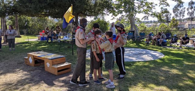 Welcome to six new Scouts! We also found a long history of Webelos from 643 coming to Troop 682.