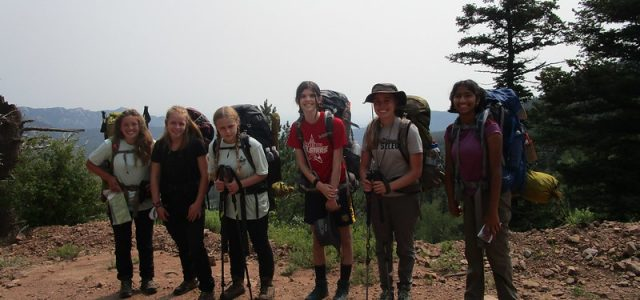 """These are photos taken by the """"Ladies Crew"""", 709-BB-01. The crew went on itinerary 12-28 and had a great Philmont adventure starting July 9. Please also check out the photos taken by the boys' crew. Since the two crews went on the same itinerary the two crews took photos of each other."""