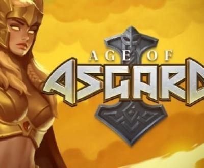 Logo på Age of Asgard slots spel