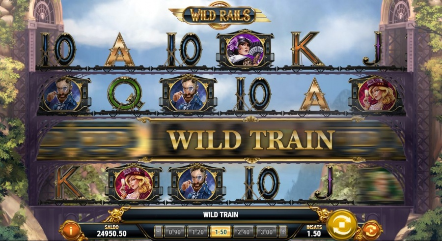 Wild rails slot med wild train funktion