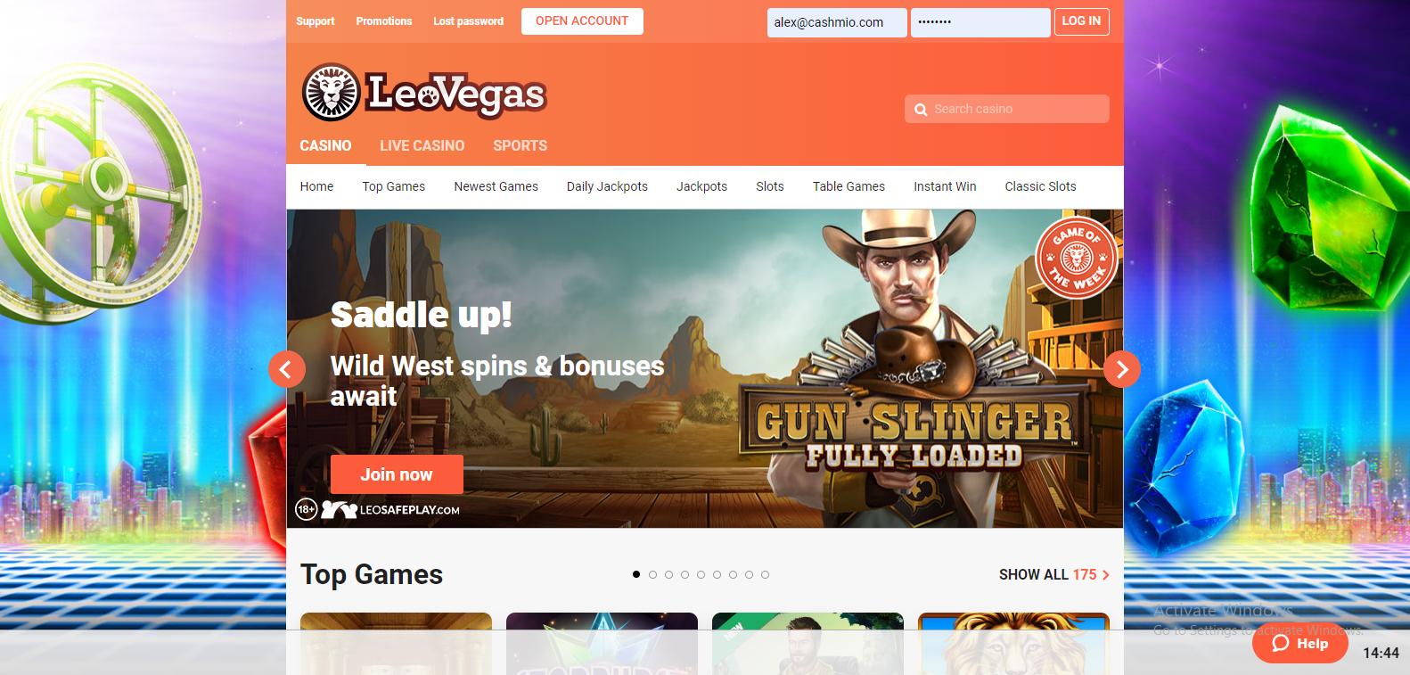 Leovegas online casino första sida