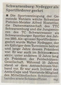 Zeitungs-nachricht 12. April 1996