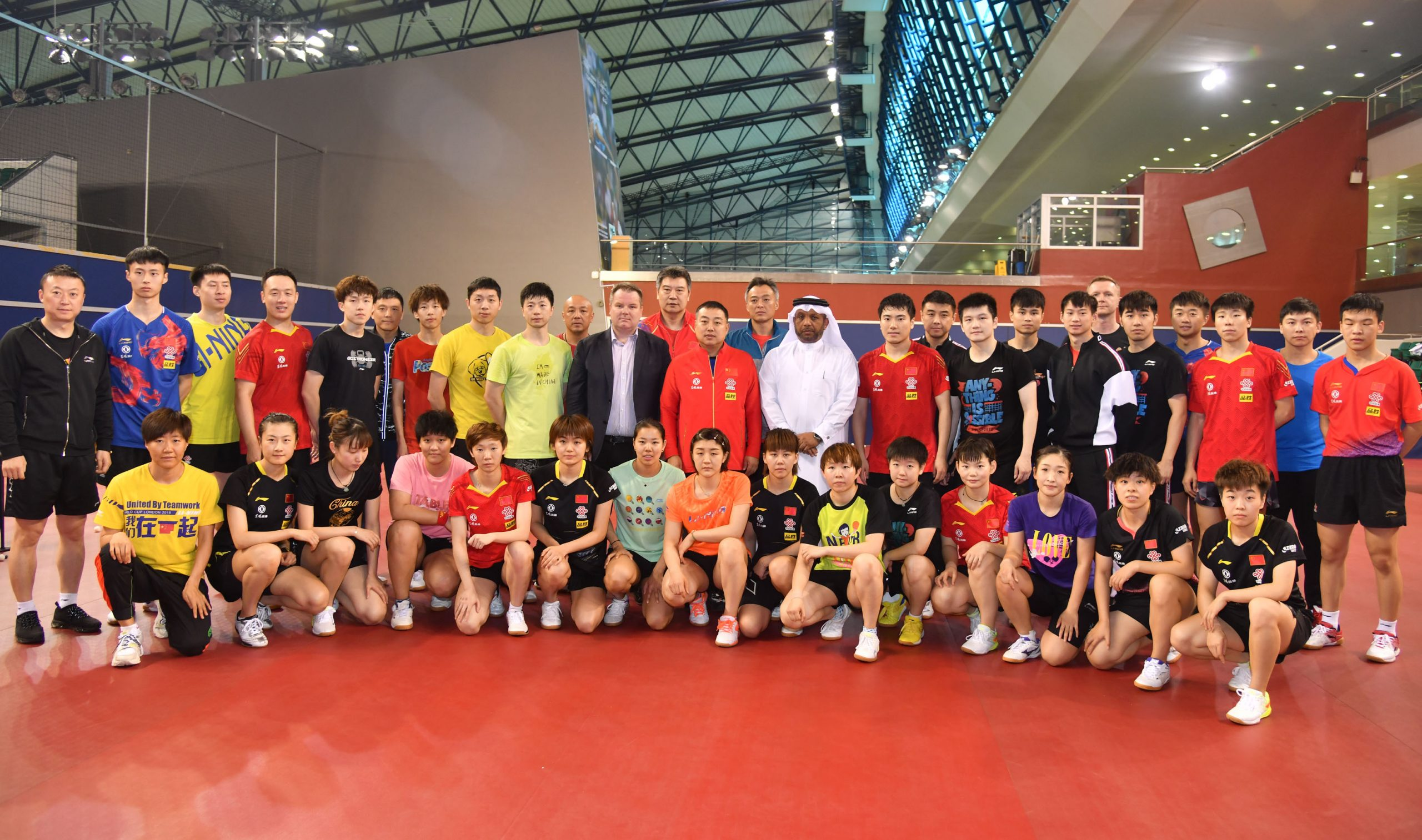 ITTF providing full assistance to Chinese National Team training in Qatar