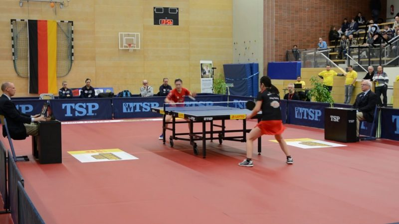 Tischtennis Final Four 2017 in Hannover: Ding Yaping – Shan Xiaona (9.1.2017)