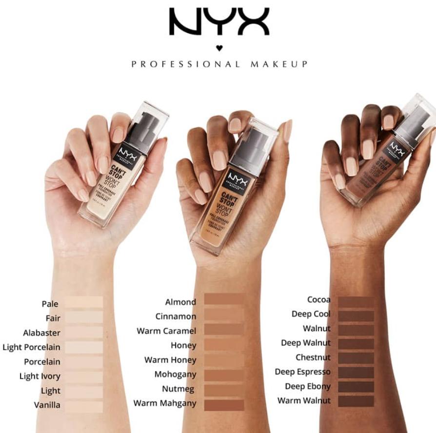 Nyx foundation amabara yose