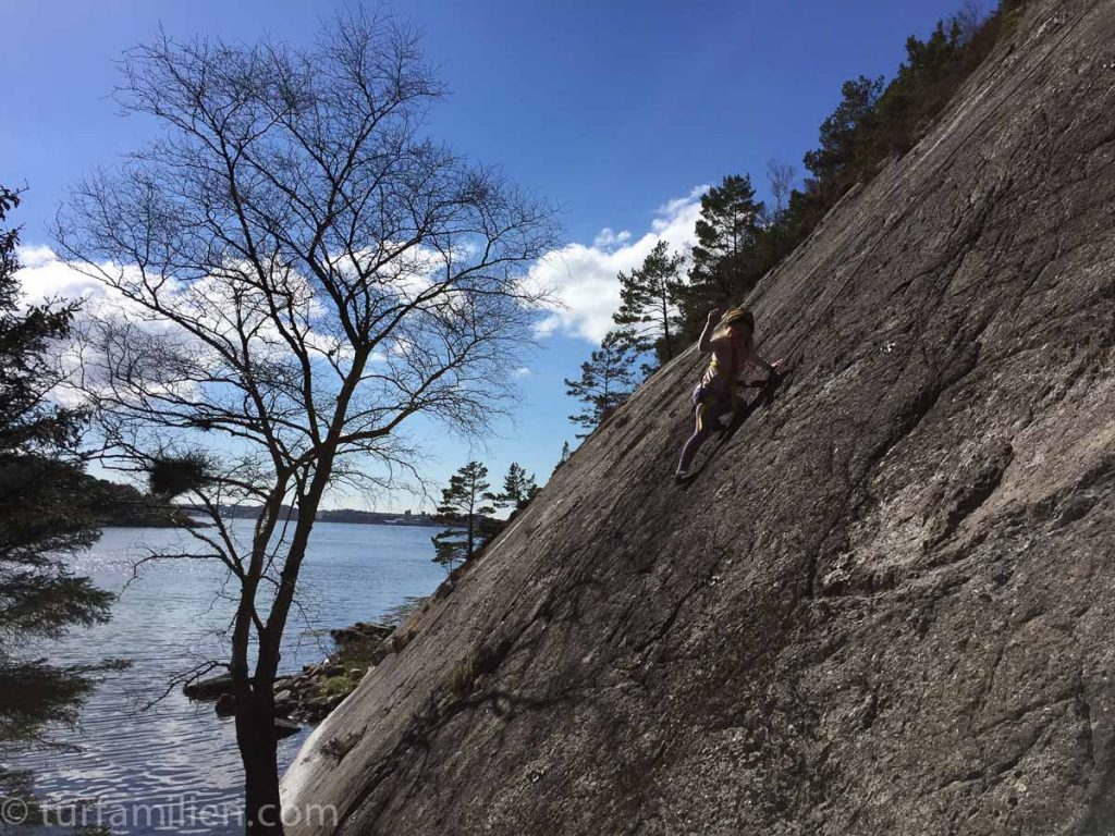 klatre på dalsvågen med barn