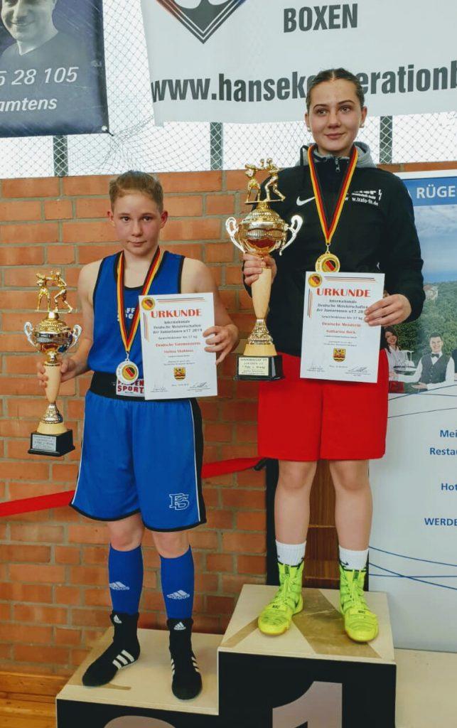 Bild: links Lea Ratzka und rechts Viktoria Sawazki