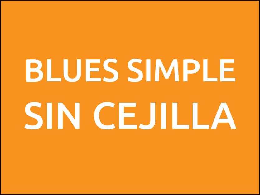 Blues simple en posición abierta
