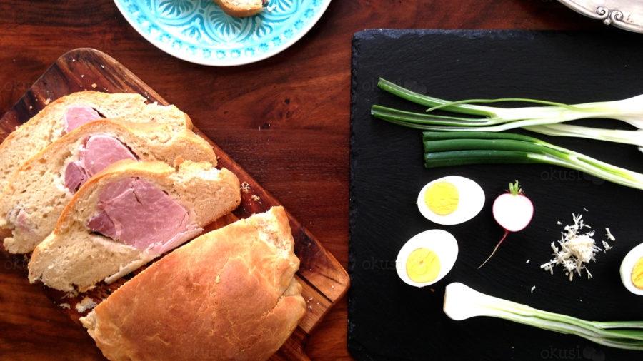 Uskršnja šunka pečena u tijestu za kruh