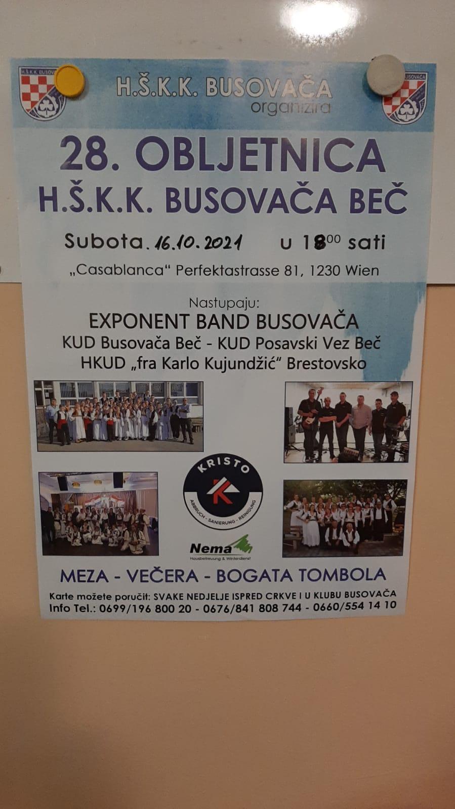 H.S.K.K. Busovaca – 28.Obljetnica – 16.10.2021