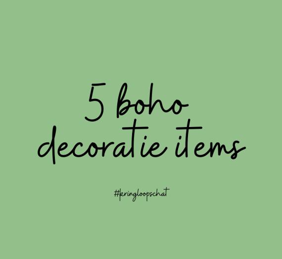 5 boho items op marktplaats
