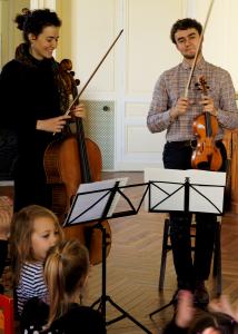 Concert d'élèves, collaboration violoncelle, les professeurs
