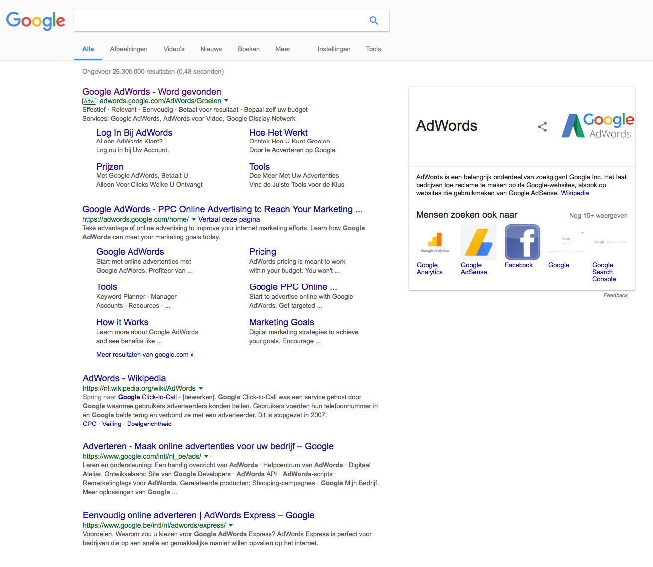 twografix zoekmachine adverteren SEA adwords