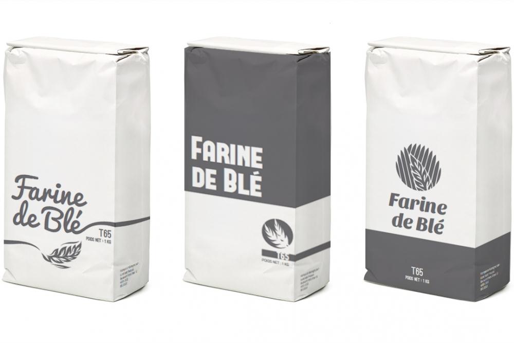 twografix verpakking ontwerp farine de blé