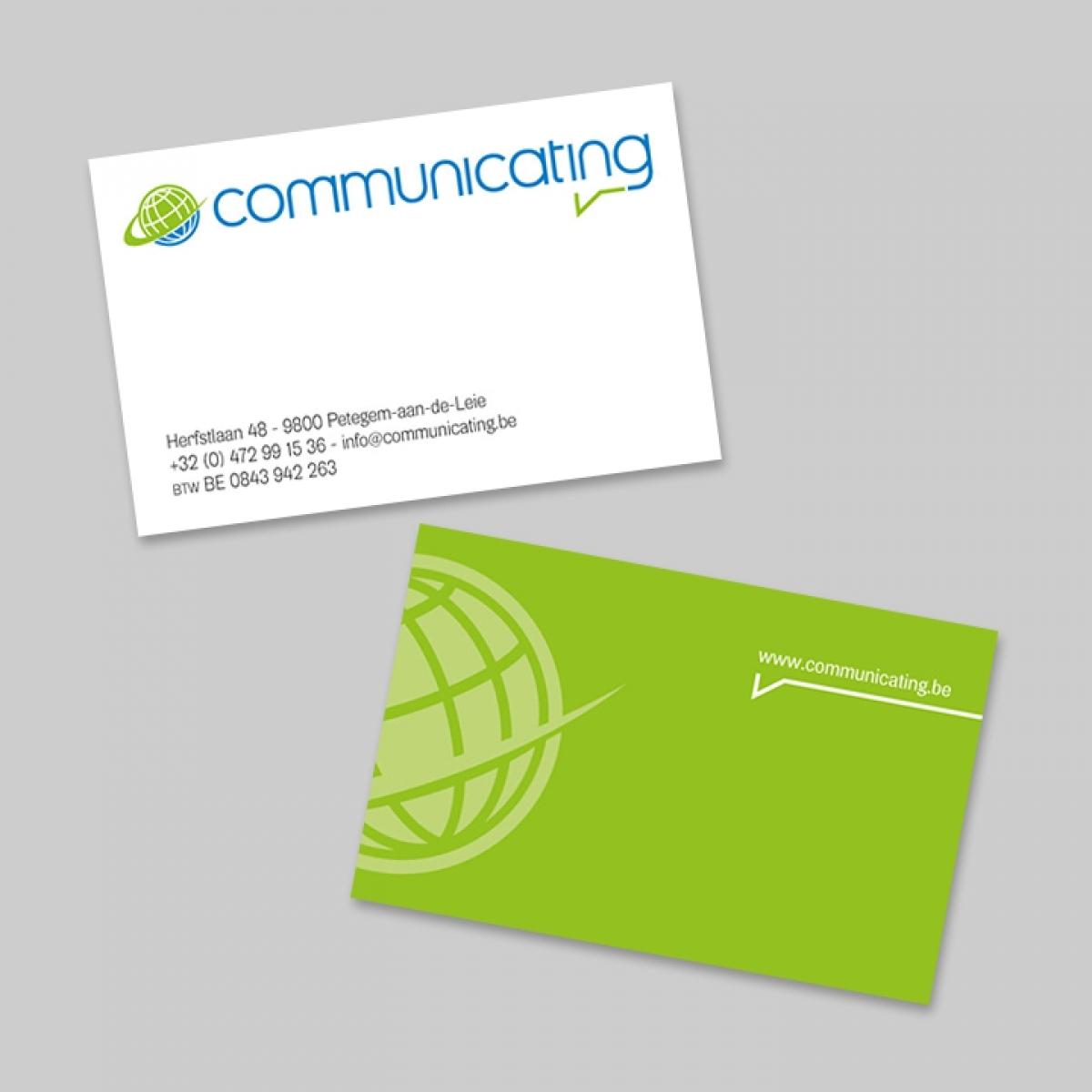 Visitekaarten: Communicating