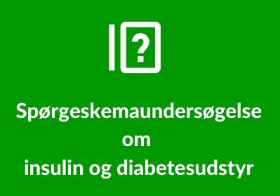 Billede spørgeskema om insulin og diabetesudstyr