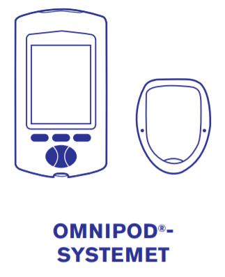 Omnipod-systemet består af insulinpumpen kaldet pod og PDM dvs fjernbetjeningen