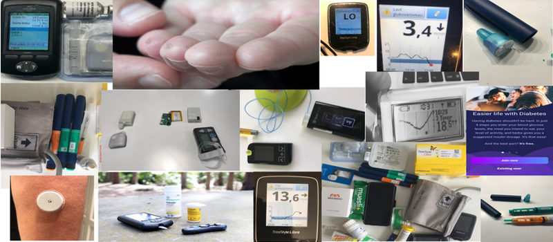 Forskelligt insulin- og diabetesudstyr