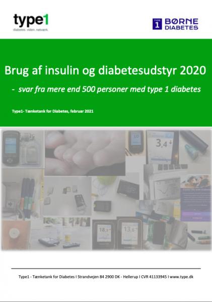 billede af rapport om brug af insulin og udstyr