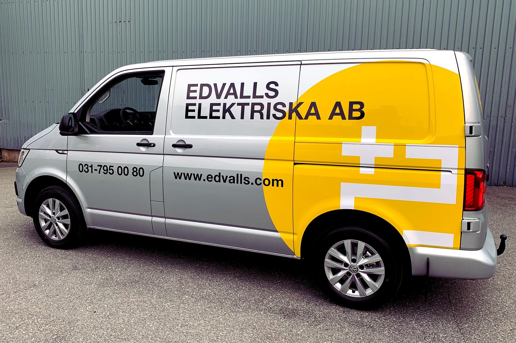 bil dekor bildekor dekaler edvalls elektriska volkswagen wrapping
