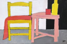 gele stoel schilderij
