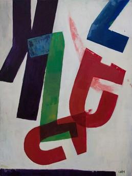 typografie schilderij