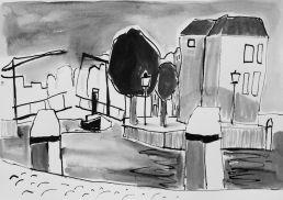 kade Dordrecht tekening