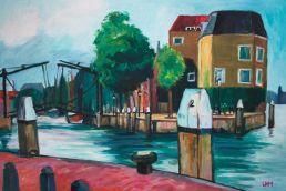 kade Dordrecht schilderij